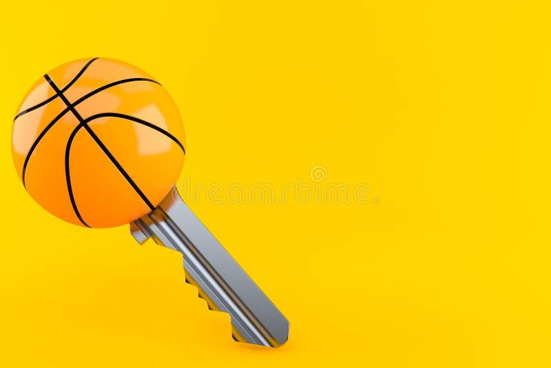 Basketballballschlüssel stock abbildung