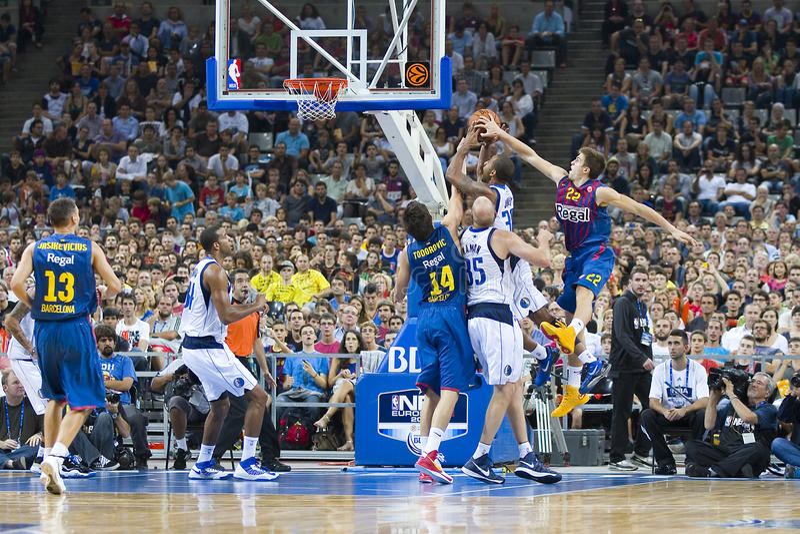 Basketballblock stockfotografie