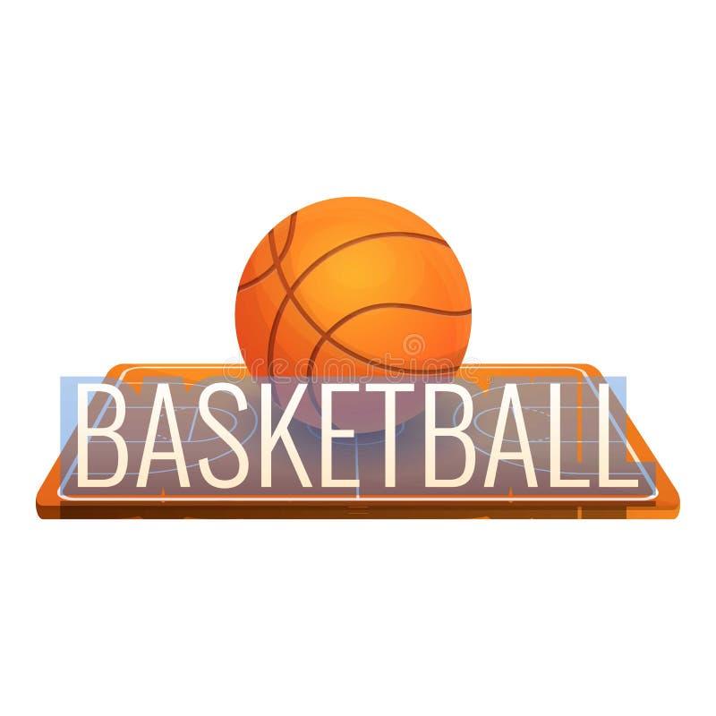 Basketballfeldlogo, Karikaturart stock abbildung