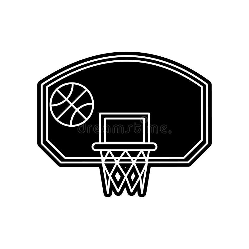 Basketballkorb mit Ballikone Element der Bildung f?r bewegliches Konzept und Netz apps Ikone Glyph, flache Ikone f?r Websiteentwu vektor abbildung
