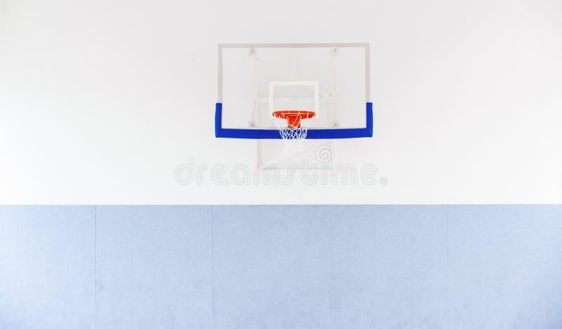 Basketballkorbkäfig, lokalisierte große Rückenbrettnahaufnahme, neues outd stockfotos