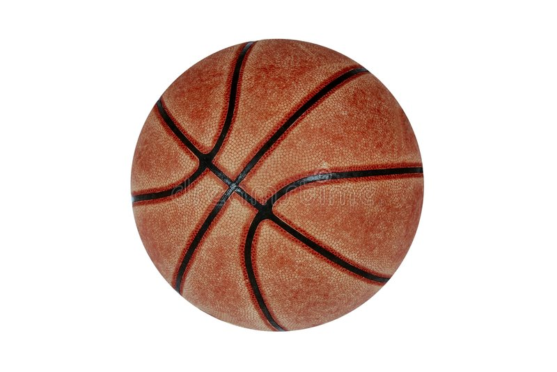 Basketballkugel stockbild