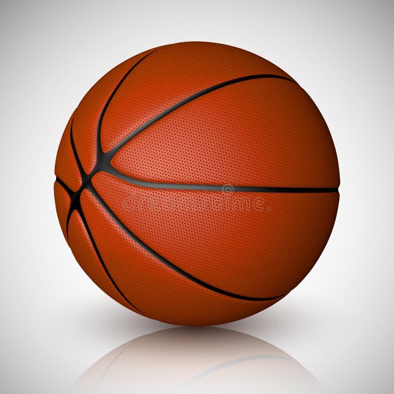 Basketballkugel getrennt auf einem weißen Hintergrund Realistische vektorabbildung stock abbildung
