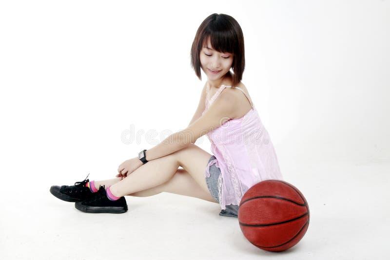Basketballmädchen. stockfoto