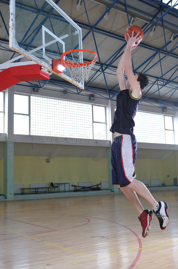 Basketballmann stockbild