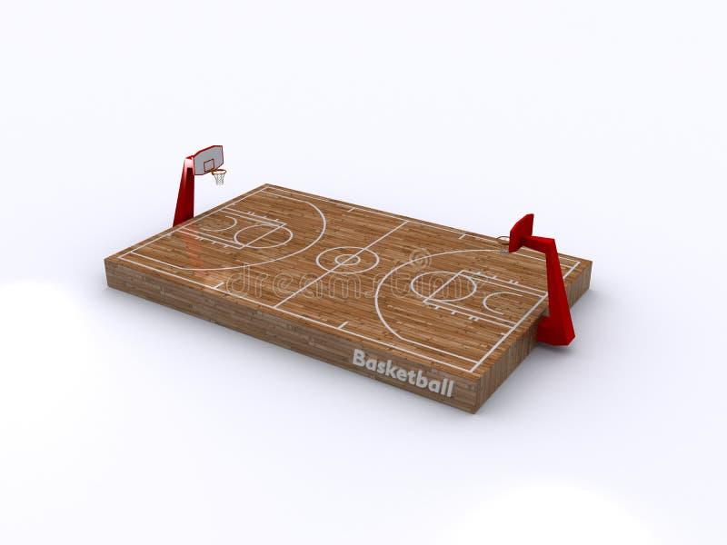 Basketballplatz stock abbildung
