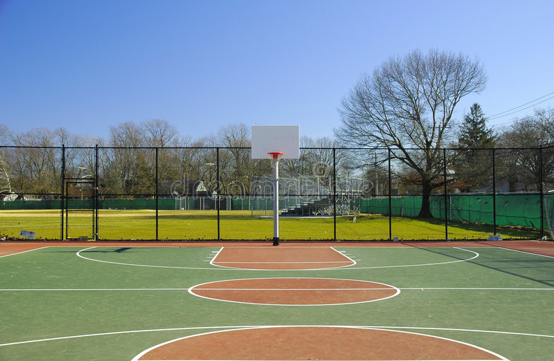 Basketballplatz 2 Stockfotografie