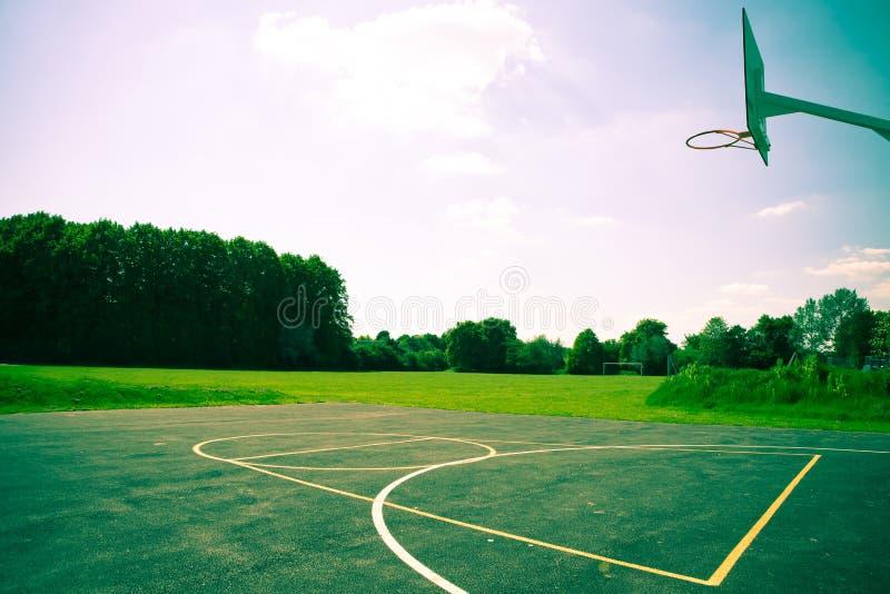 Basketballplatz stockbild
