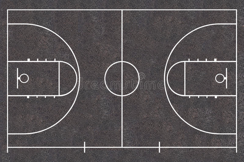 Basketballplatz lizenzfreie abbildung