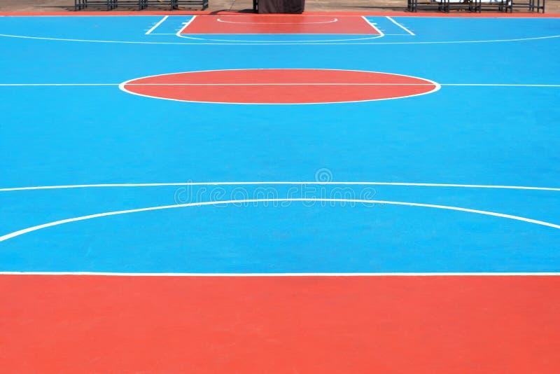 Basketballplatz mit der Linie im Freien lizenzfreies stockbild