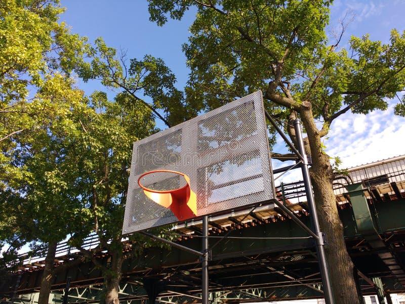 Basketballplatz in New York City stockfotografie