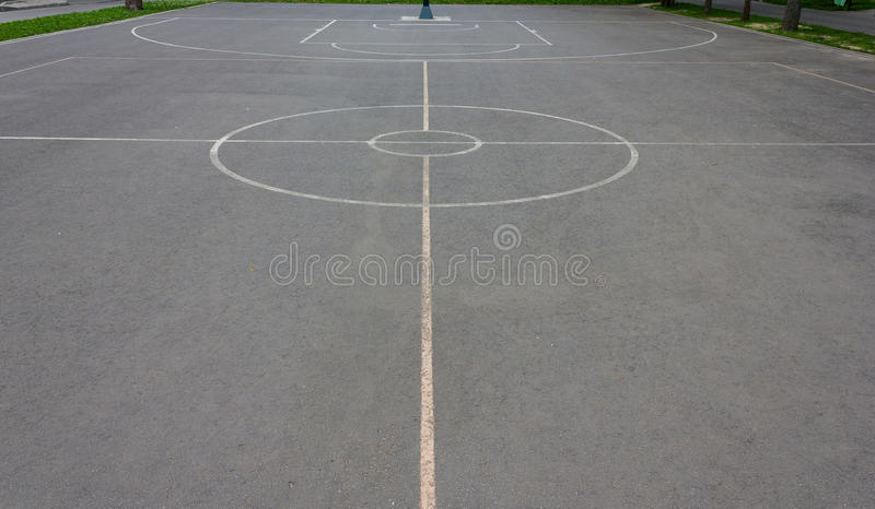 Basketballplatzmarkierungen stockfotografie