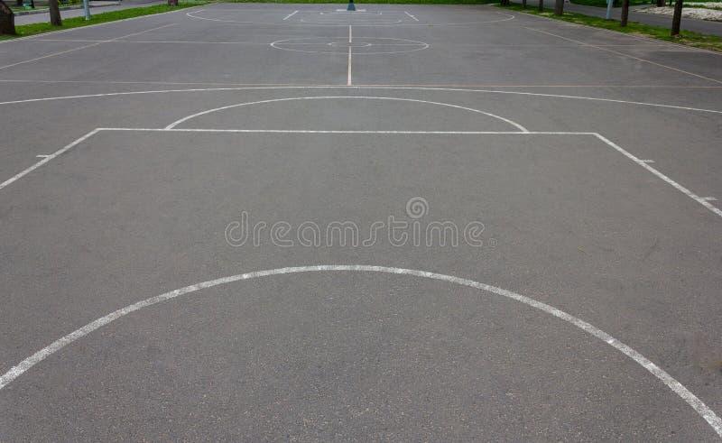 Basketballplatzmarkierungen lizenzfreie stockbilder