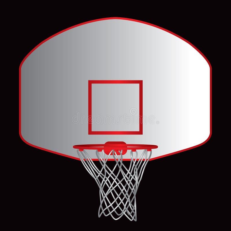 Basketballrückenbrett lizenzfreie abbildung