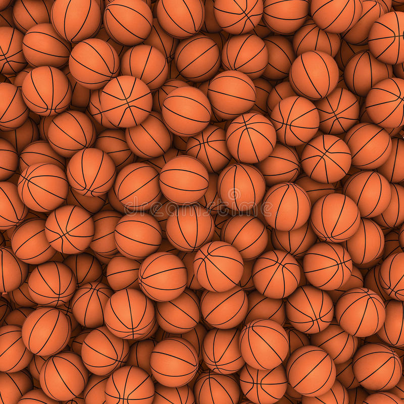 Basketballs background stock illustration
