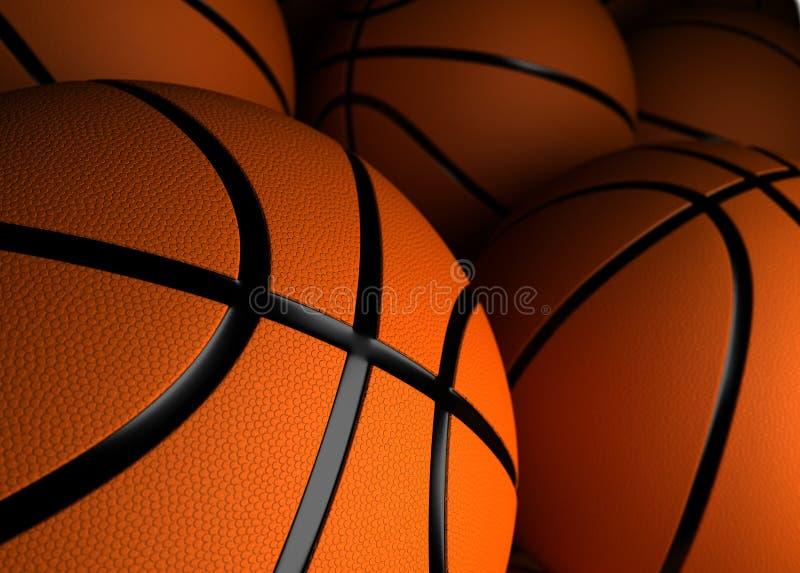 Basketballs Closeup royalty free stock images