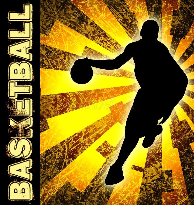 Basketballsaisonflugblatt stock abbildung