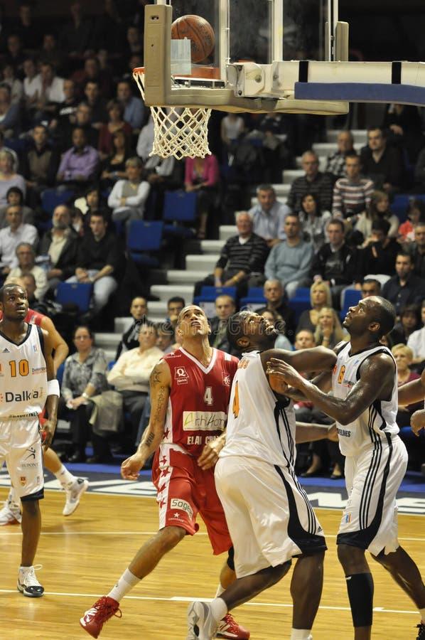 Basketballspiel stockbild