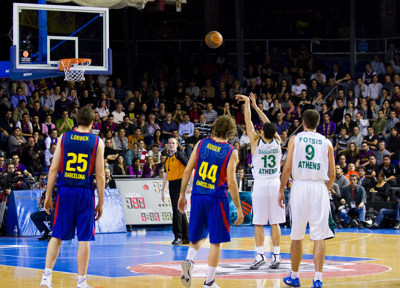 Basketballspiel stockfotos