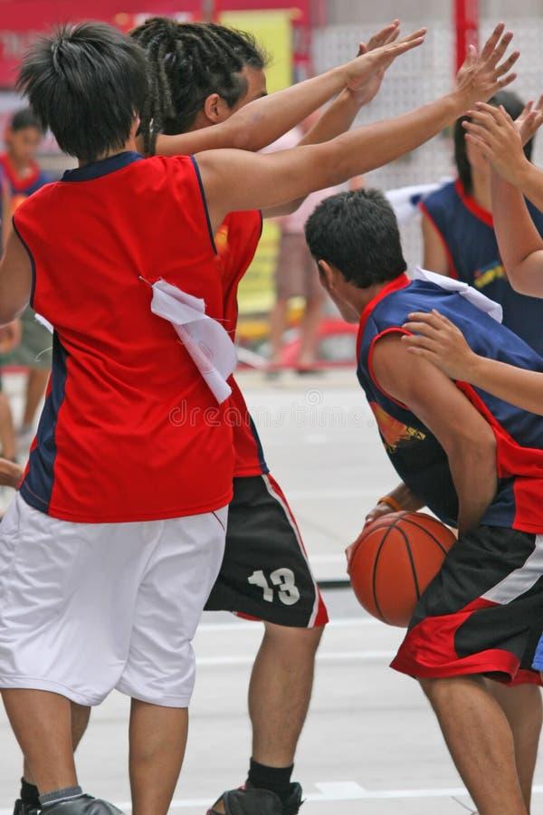 Basketballspiel lizenzfreies stockfoto