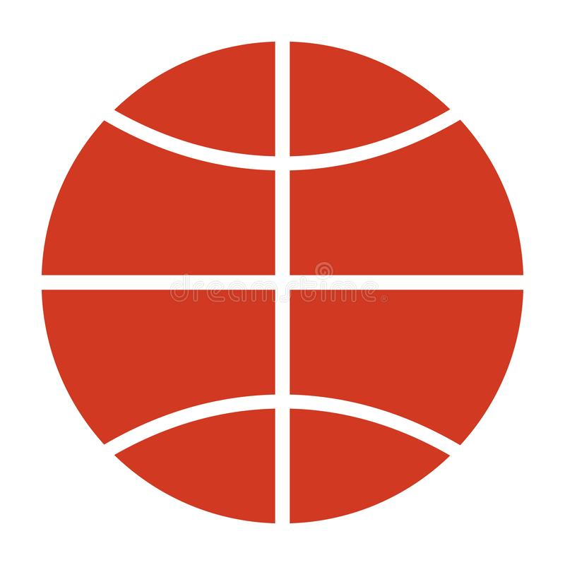 Basketballspielballikone auf weißem Hintergrund lizenzfreie abbildung