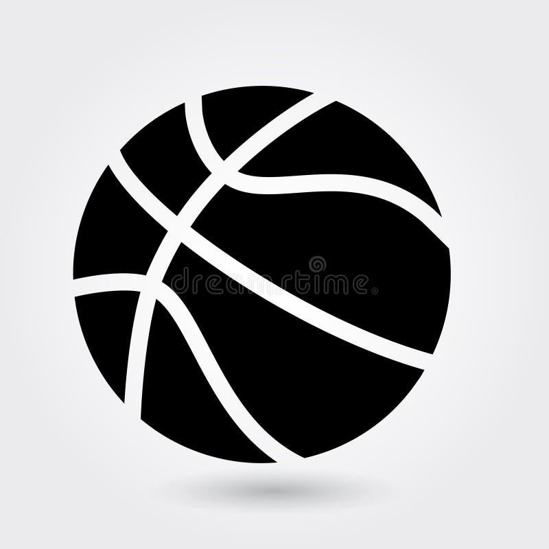 Basketballvektorikone, Sportballikone, Sportballsymbol Moderner, einfacher Glyph, fester Vektor stock abbildung