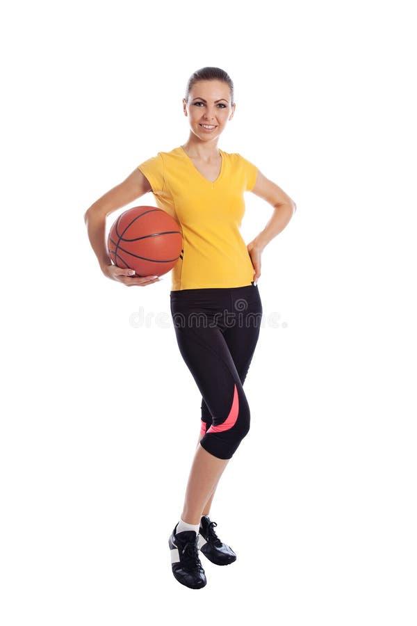Basketbalmeisje royalty-vrije stock afbeeldingen