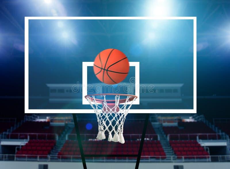 Basketbalschot royalty-vrije stock afbeeldingen