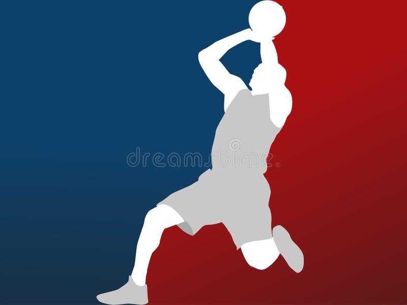 Basketbalspeler vector illustratie