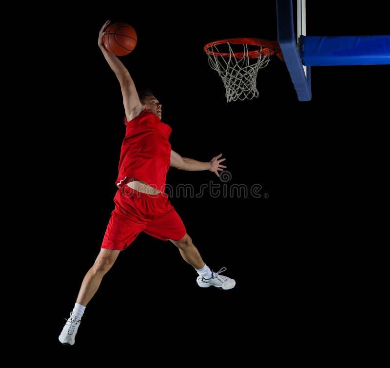 Basketbalspeler in actie royalty-vrije stock afbeeldingen