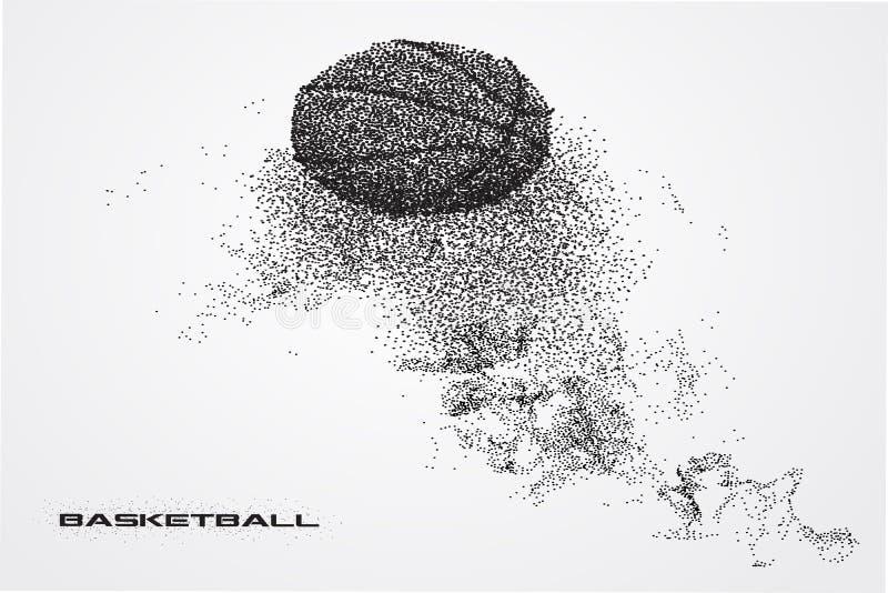 Basketbalspeler van een silhouet van deeltje royalty-vrije illustratie