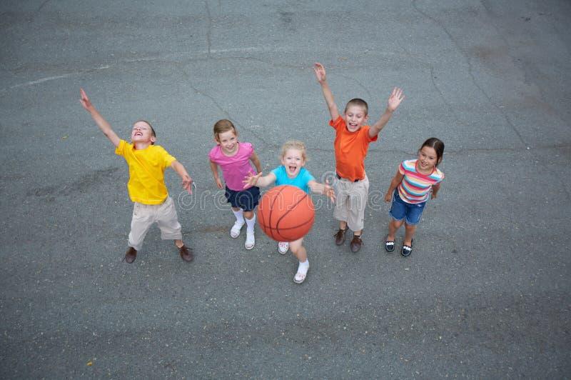 Basketbalspelers royalty-vrije stock foto's