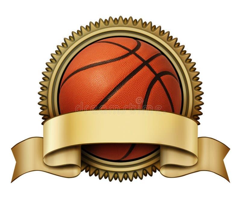 Basketbaltoekenning stock illustratie