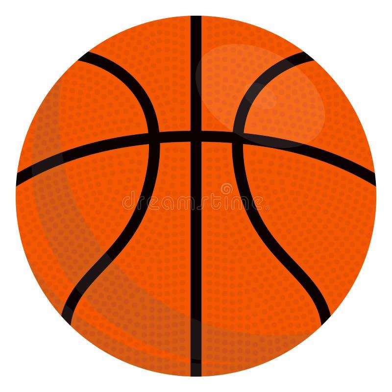 Basketboll ?ver vit bakgrund Vektorillustration som isoleras p? white vektor illustrationer