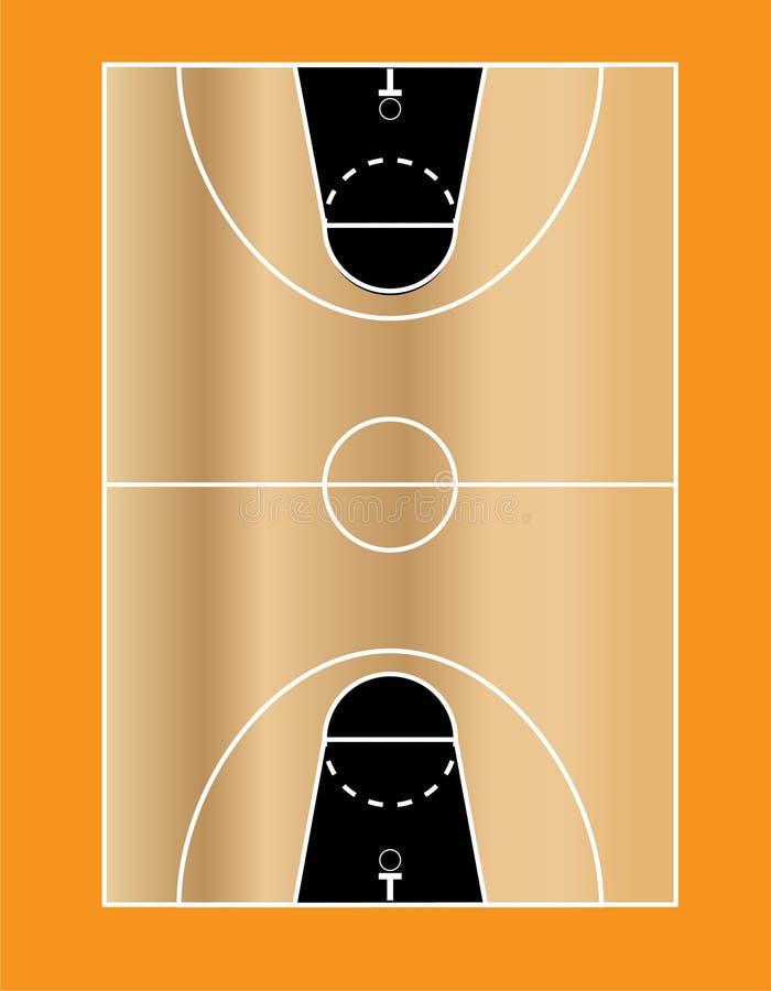 Basketbollfält 1 arkivfoto