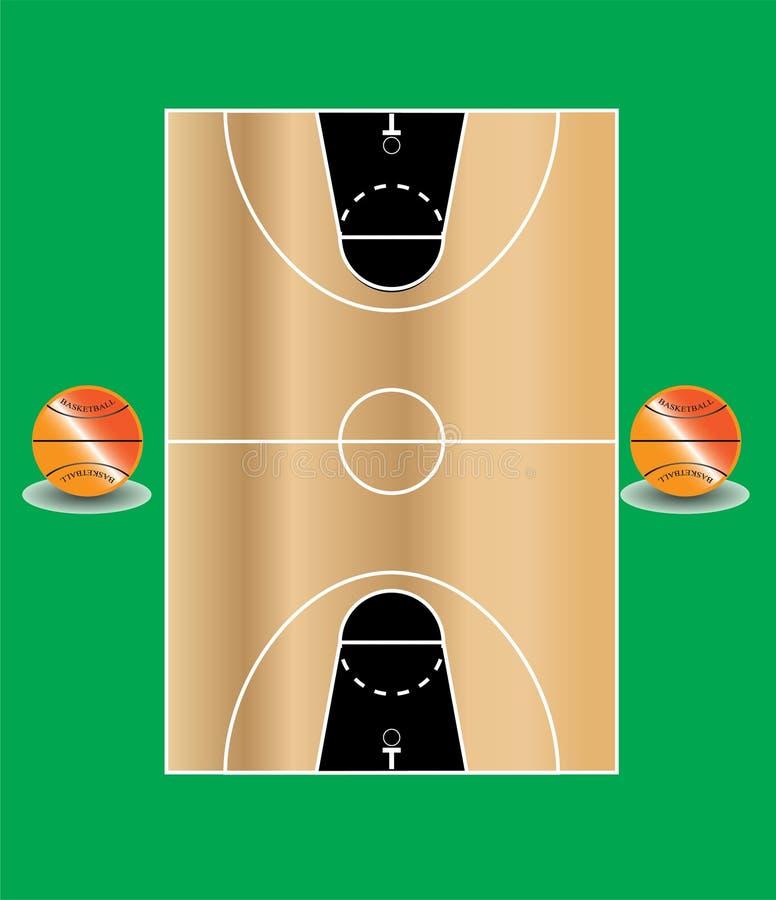 Basketbollfält 2 royaltyfri bild