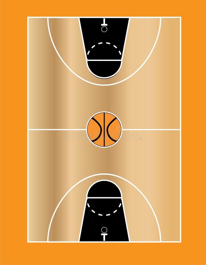 Basketbollfält 3 arkivfoton