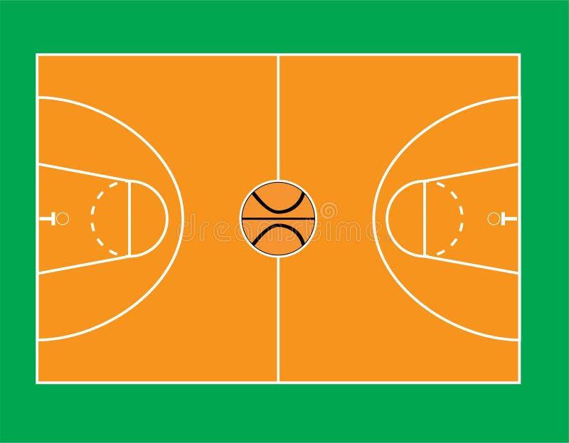 Basketbollfält 4 arkivfoto