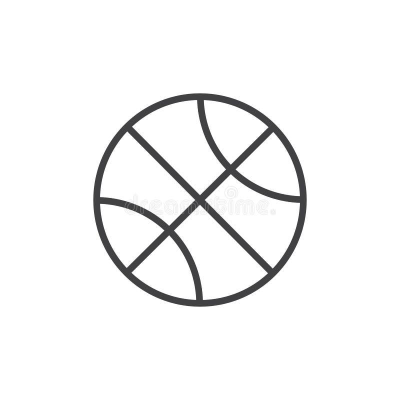 Basketbolllinje symbol royaltyfri illustrationer