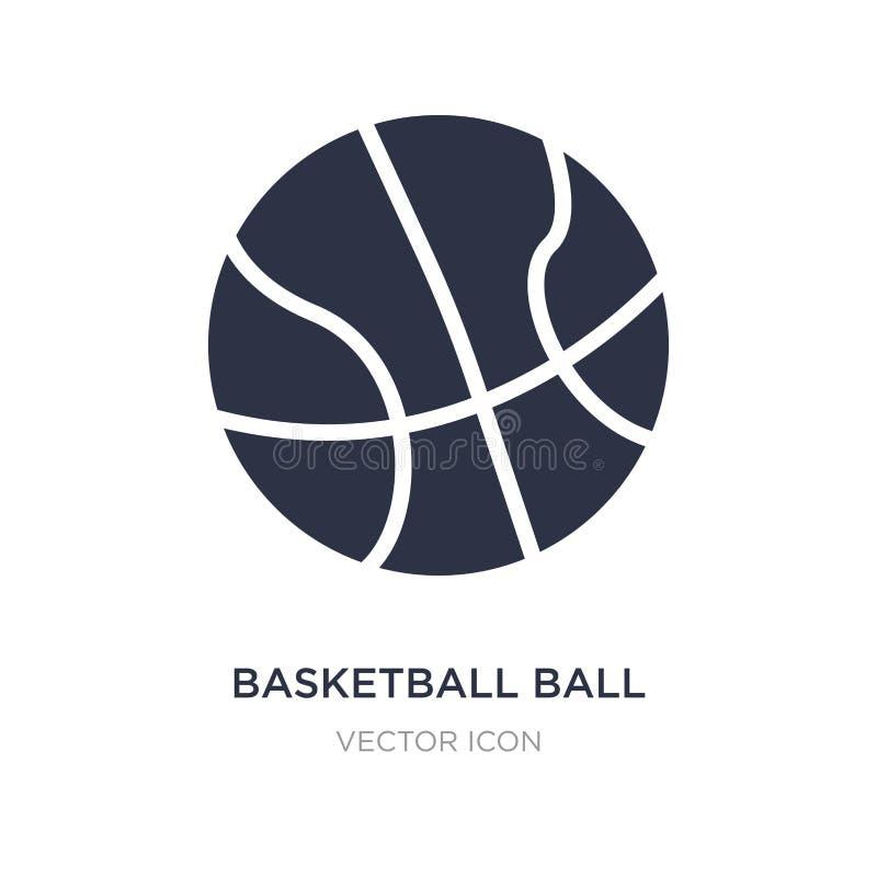 Basketbollsymbol på vit bakgrund Enkel beståndsdelillustration från hobbyer och begrepp för fri tid stock illustrationer