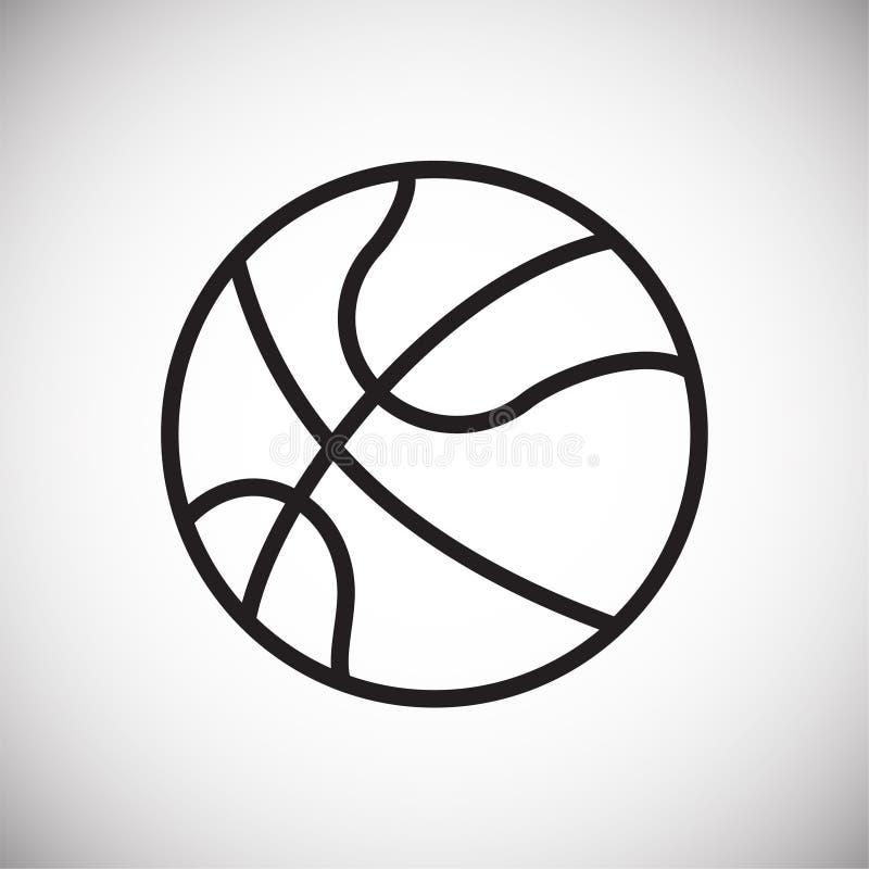 Basketbollsymbol på vit bakgrund för diagrammet och rengöringsdukdesignen, modernt enkelt vektortecken för färgbegrepp för bakgru vektor illustrationer