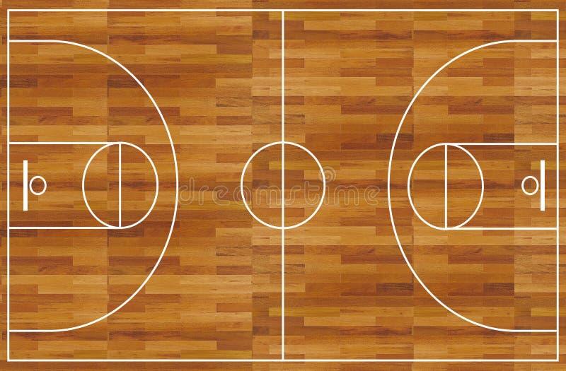 basketdomstol royaltyfri illustrationer