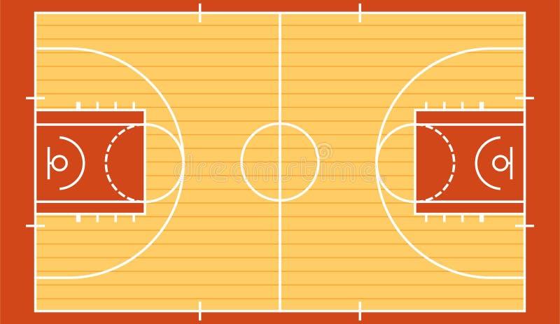 Basketdomstolen isolerade 2 royaltyfri illustrationer