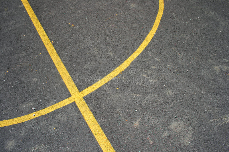basketdomstollinjer royaltyfria foton