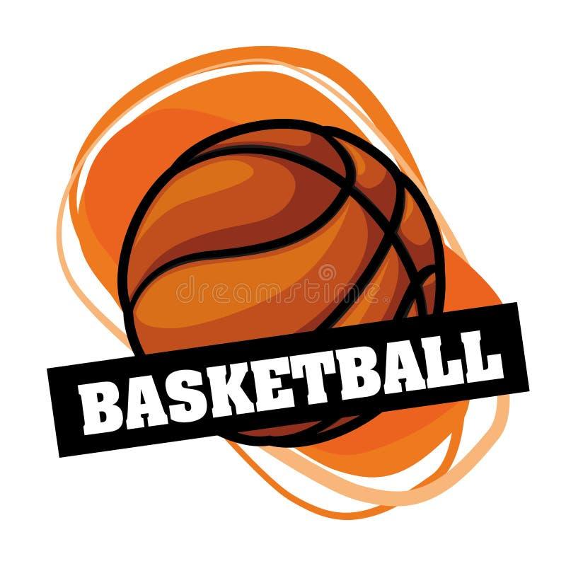 Basketemblem royaltyfri illustrationer