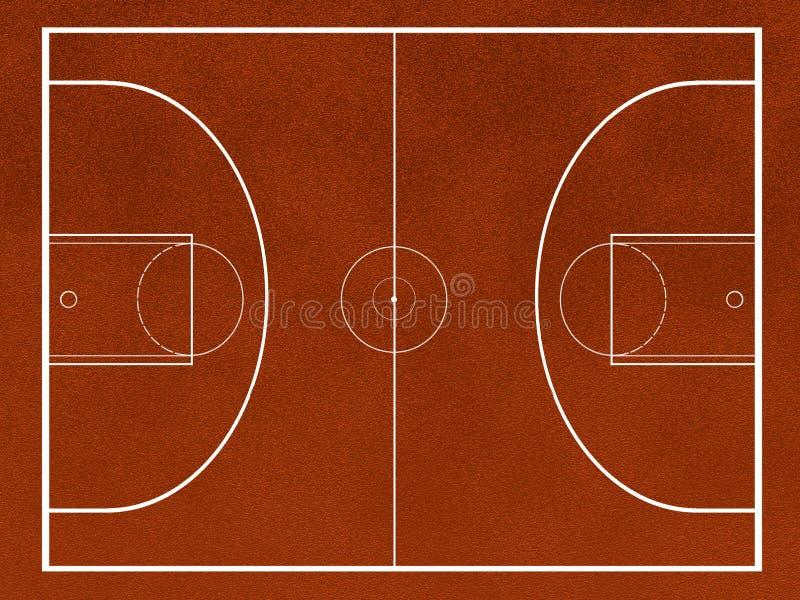 basketfält stock illustrationer