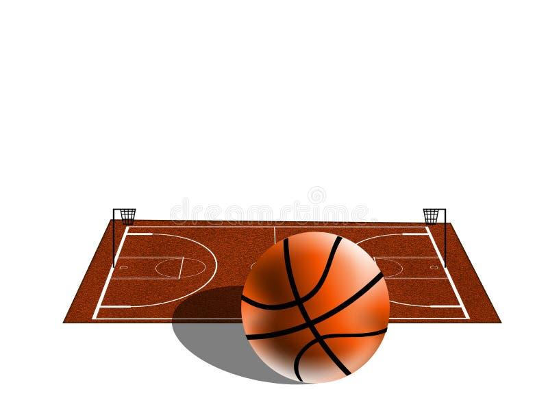 basketfält vektor illustrationer