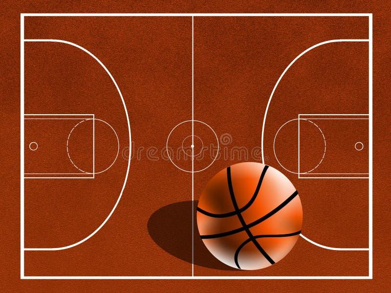 basketfält royaltyfri illustrationer