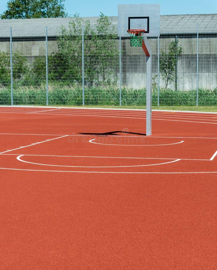 Basketfält med olika linjer royaltyfri foto