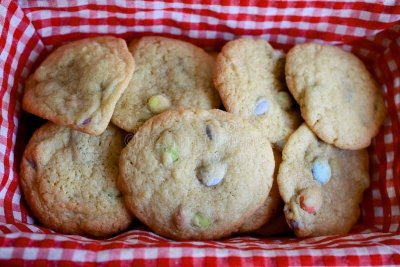 Basketful Of Cookies Stock Photo